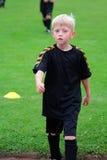 Der Jungenfußballspieler Lizenzfreies Stockfoto