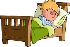 Der Jungenschlaf Lizenzfreies Stockfoto