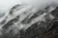 Der Kälte Felsen cloudly Lizenzfreie Stockbilder