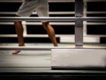 Der Kämpfer im Ring stockfotos