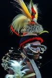 Der König von Baliem-Tal Papua Indonesien stockbild