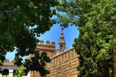 Der königliche Alcazar von Sevilla, alte Architektur, Spanien Lizenzfreies Stockbild