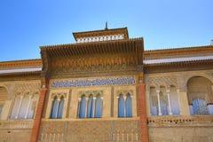 Der königliche Alcazar von Sevilla, alte Architektur, Spanien Lizenzfreie Stockbilder