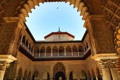 Der königliche Alcazar von Sevilla, alte Architektur, Spanien Lizenzfreies Stockfoto