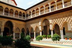 Der königliche Alcazar von Sevilla, Spanien Stockfotografie