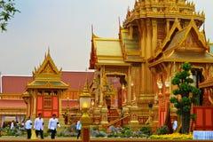 Der königliche Crematorium, BANGKOK, THAILAND lizenzfreie stockbilder