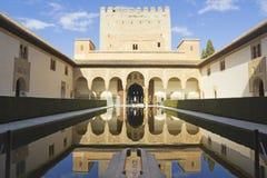 Der königliche Komplex von Alhambra Stockbilder