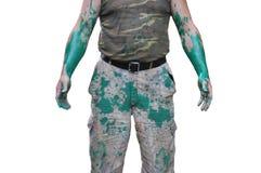 Der Körper eines Mannes in der Kleidung Stockfotografie
