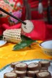 Der köstliche Lebensmittelpurpurtang des Fleisches Stockfotografie