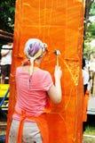 Der Künstler von Ubon Kerze-Festival 2012 Stockfoto