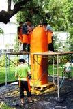 Der Künstler von Ubon Kerze-Festival 2012 Lizenzfreie Stockfotografie