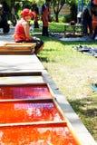 Der Künstler von Ubon Kerze-Festival 2012 Lizenzfreie Stockfotos