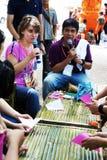 Der Künstler von Ubon Kerze-Festival 2012 Stockfotografie