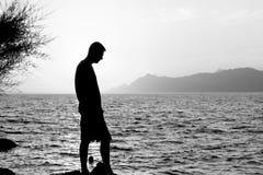 An der Küste in Makarska gehen, Kroatien Lizenzfreies Stockfoto