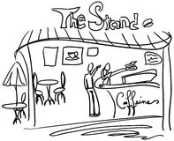 Der Kaffee-Standplatz [VEKTOR] Stockbilder
