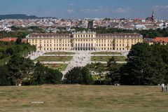 Der Kaiserpalast Schoenbrunn in Wien, Österreich stockfoto