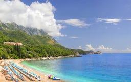 Der Kamenovo-Strand montenegro stockbild