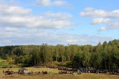 Der Kampf von Borodino Stockfotografie