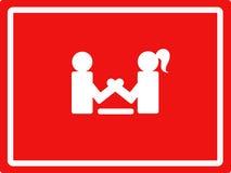 Der Kampf zwischen Mann und Frau Stockbild