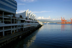 Der Kanada-Platz in Vancouver, Kanada Lizenzfreie Stockfotografie