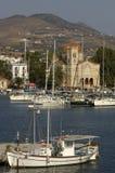 Der Kanal von Aegina in Griechenland Stockfotografie