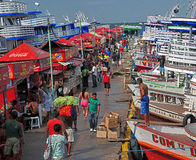 Der Kanal von Manaus lizenzfreies stockbild