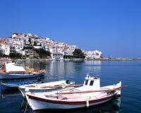 Der Kanal von Skopelos Stockfotos