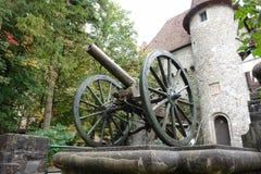 Der Kanon im Peles Palast. Lizenzfreie Stockbilder