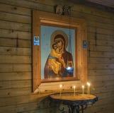 In der Kapelle auf dem heiligen Frühling zu Ehren des Theodore Icons O stockfoto