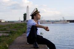 Der Kapitän lizenzfreie stockfotos