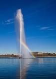 Der Kapitän Cook Memorial Jet in Canberra Stockbilder