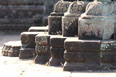 Der Keller von Angkor-Tempeln (Banteay Srei), Kambodscha Stockfotografie