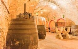 Der Keller von Montepulciano Stockfotografie