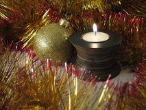 In der Kerze-Leuchte lizenzfreie stockfotografie