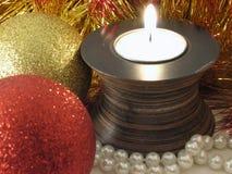 In der Kerze-Leuchte stockfotografie
