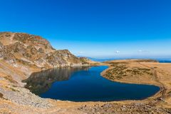 Der Kidney See ist einer der sieben Rila Seen Rila-Berg, Stockfotos