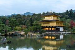 Der Kinkakuji-Tempel Stockbild