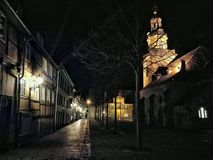 Der Kirchplatz in Rinteln. Altstadt in Germany stock photo
