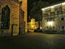 Der Kirchplatz in Rinteln. Germany Churchplace Stock Photos
