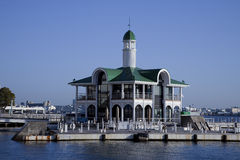 Der klassische Pier, der baggily steigt Lizenzfreies Stockfoto
