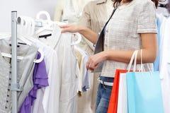 In der Kleidungsabteilung Lizenzfreies Stockbild