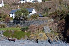 Cadgwith Bucht-Strand Cornwall Stockfotografie