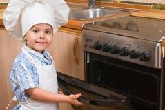 Der kleine Koch Stockfotos