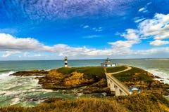 Der kleine Leuchtturm in Ribadeo - Spanien Lizenzfreie Stockbilder