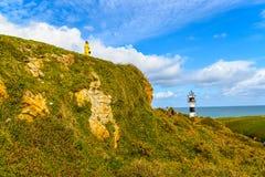 Der kleine Leuchtturm in Ribadeo - Spanien Stockbild