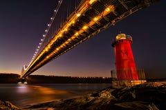 Der kleine rote Leuchtturm Stockfotos