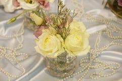 Der kleine weiße Blumenstrauß Lizenzfreie Stockfotografie