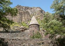 Der Klosterkomplex von Gegrdavank Stockbilder