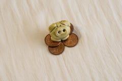 Der kluge Penny, zerstoßen dummes stockbild