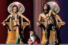 Der König und die Königin Stockfotos